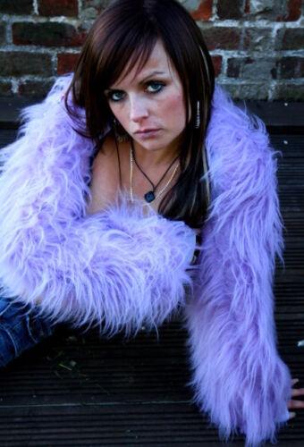 ANY COLOUR Funki-B Faux Fur fluffy shrug PLAIN colour rave warmers neon clubwear