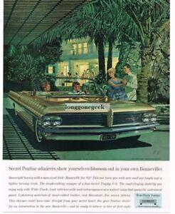 Details about 1962 PONTIAC Bonneville Gold Convertible art Fitzpatrick,  Kauffman Vtg Print Ad
