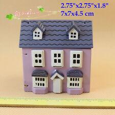"Dollhouse Miniatures Wood Mini Doll House 2.75""x2.75""x1.8"""