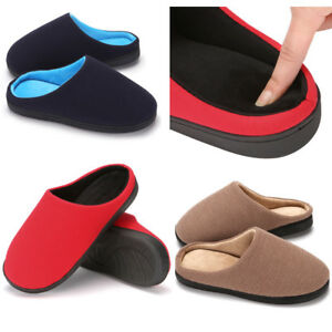 c044a3d51edd Women s Two-Tone Slip On Memory Foam Clog Slippers French Terry ...