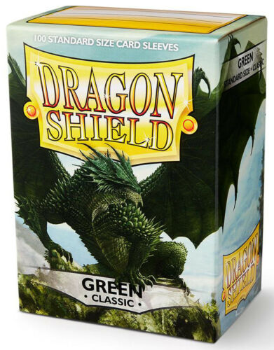 100 DRAGON SHIELD CLASSIC Standard Size GREEN Card Sleeve deck protector mtg ccg