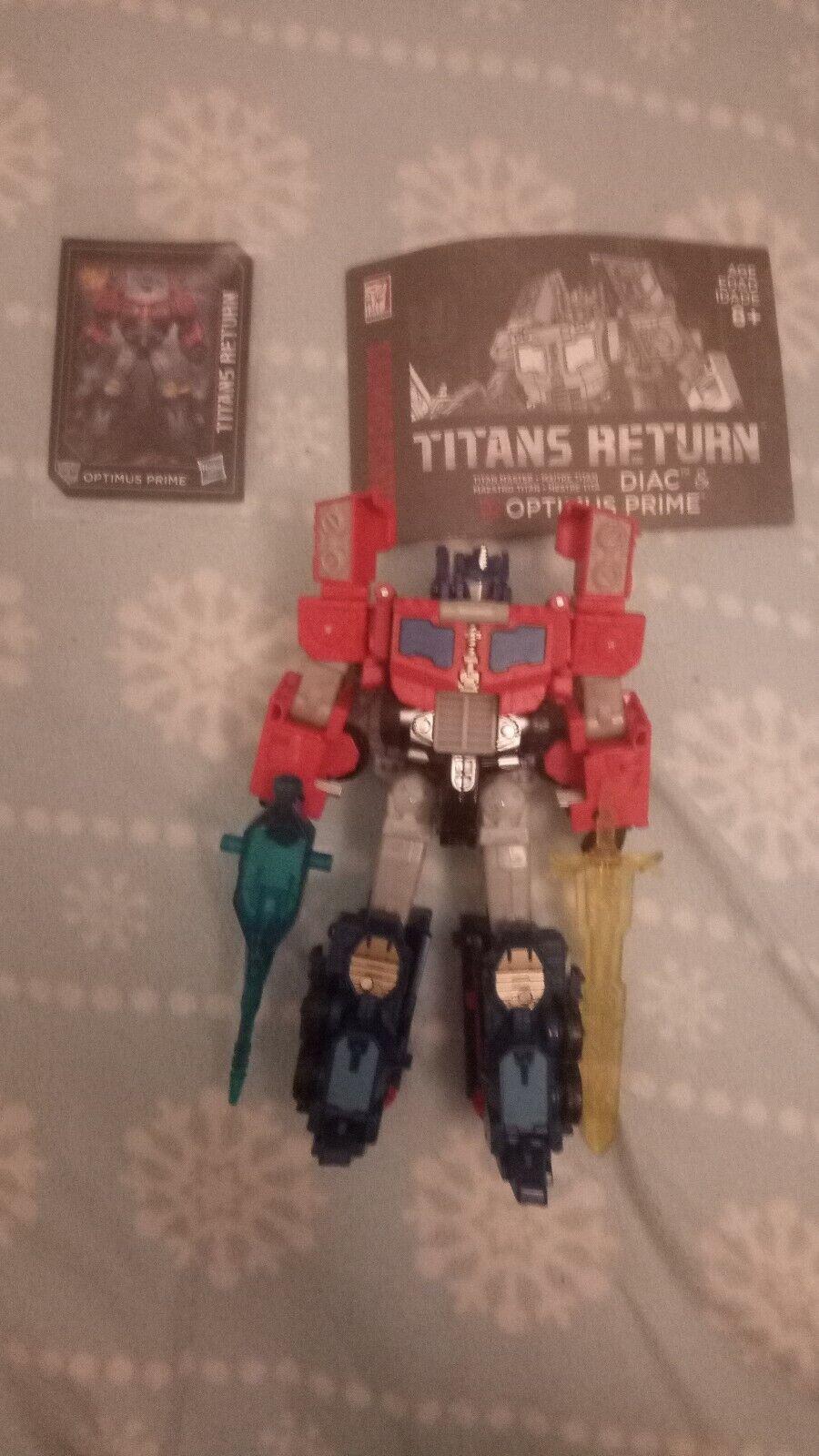 Transformers titans return optimus prime And Diac Titan Master