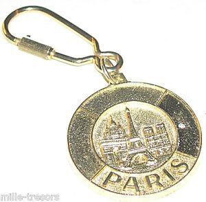 Porte-Cles-Monuments-de-PARIS-Belle-realisation-en-metal-dore