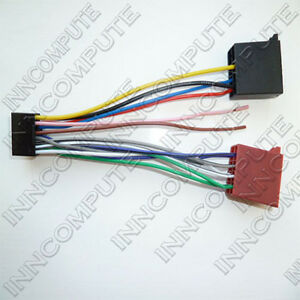 jvc 16 pin iso wiring harness loom to iso headunit lead ct21jv04 image is loading jvc 16 pin iso wiring harness loom to