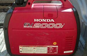 Honda eu2000i generator inverter 2000 watt eu 2000i silent for Yamaha 2000 generator run time