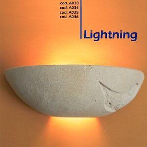 Lampada Da Parete Artigianale In Pietra Di Matera Applique Modello