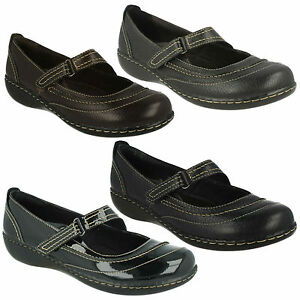 Chat Clarks Patent Embrace Mary Jane Ladies Leather Casual Riptape 1Eanqdg