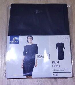 TCM Tchibo Damen Kleid Jersey Stretch 3//4 Ärmel Casual Party Büro Schwarz L44//46