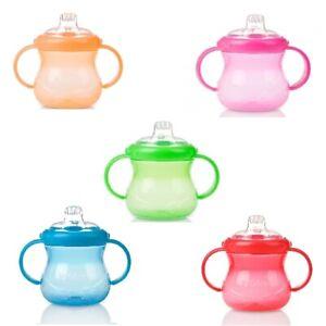 6m-Nuby-Grip-N-Sip-Cup-295ml-Random-Colour-Handle-2-Soft-Spout