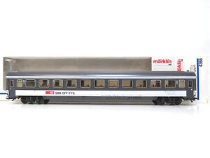 2-Klasse-Schnellzugwagen-Bpm-der-SBB-EuroCity-Maerklin-HO-4366-OVP-TOP-KV