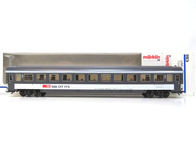 2.Klasse Schnellzugwagen Bpm der SBB,EuroCity,Märklin HO,4366,OVP,TOP,KV