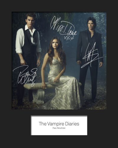 THE VAMPIRE DIARIES #2 Signed Photo Print 10x8 Mounted Photo Print