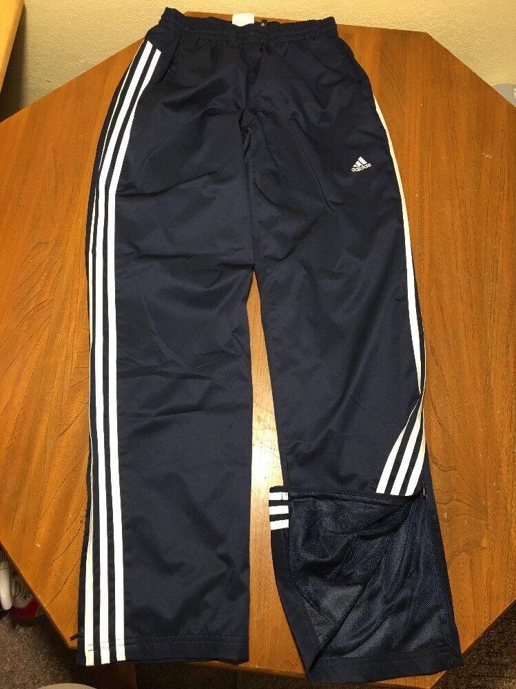 79bbf9e66f Adidas Férfi S nadrág S nadrágja Szilárd Adidas fehér csíkos futballpálya  148 hálós kék poliészter