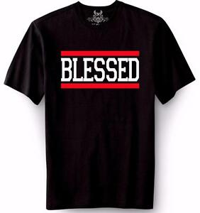 NEW MEN'S PRINTED BLESSED JESUS GOD LOVE CHRISTIAN CROSS ...