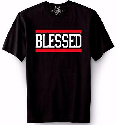 NEW MEN'S PRINTED BLESSED JESUS GOD LOVE CHRISTIAN CROSS GRAPHIC DESIGN T-Shirts