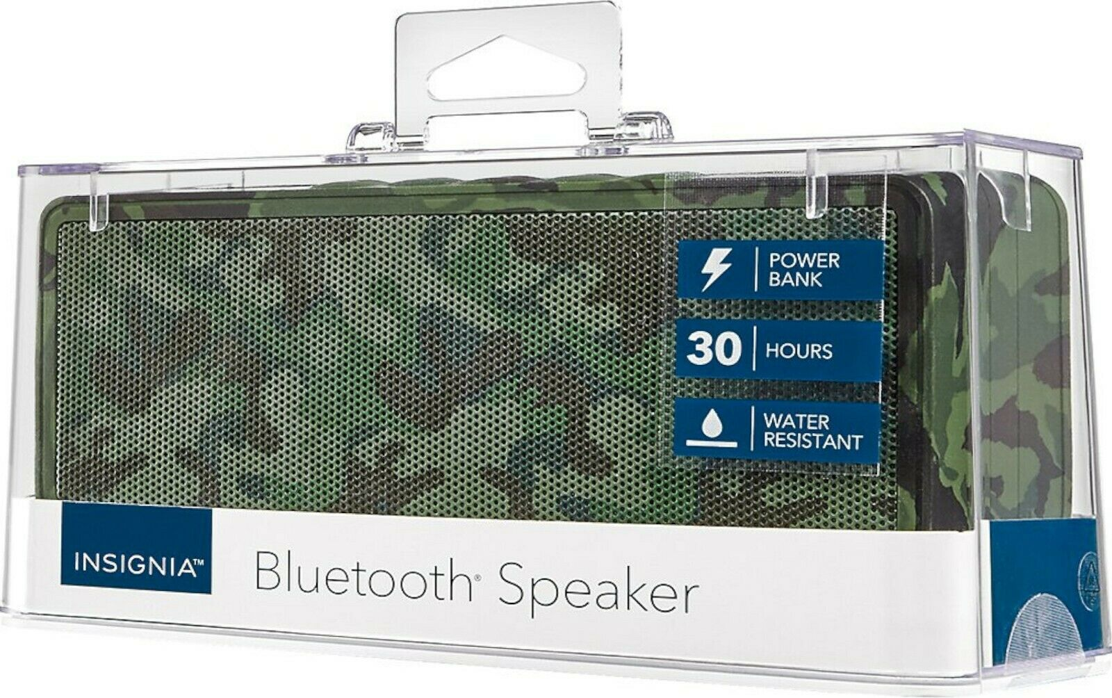 Camo NS-SPBTBRICK-CM Insignia Portable Bluetooth Stereo Speaker with Powerbank