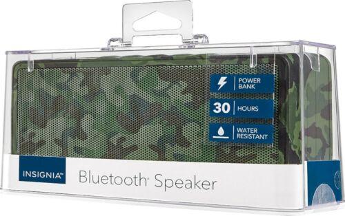 NEW Insignia Portable Bluetooth Camo Speaker with Powerbank NS-SPBTBRICK-CM
