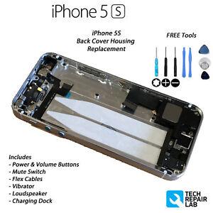 Nouveau-iPhone-5S-Coque-Boitier-assemblage-rechange-Pre-assemble-Argent