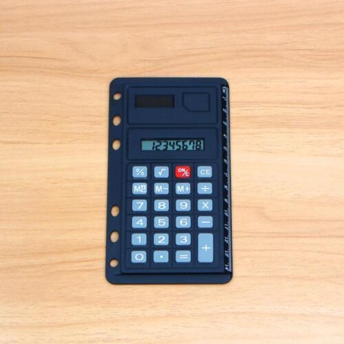 Solar Lineal Taschenrechner Abheftbar Schule Büro cm Skala Universal Lochun T1G8