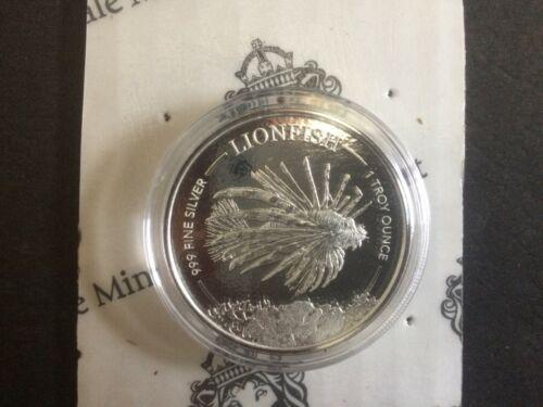 2019 Barbados $1 1oz LionFish Silver Bullion Coin