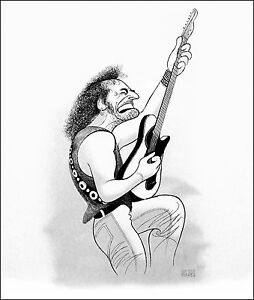 Al-Hirschfeld-039-s-BRUCE-SPRINGSTEEN-Hand-Signed-Limited-Edition-Lithograph