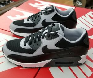 cheaper c68f7 07f42 Image is loading NIKE-AIR-MAX-90-ESSENTIAL-MEN-BLACK-WOLF-