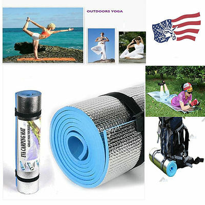 Lot BLUE /Purple 6mm Thick Non-Slip Yoga Mat Exercise Fitness Lose Weight  HS