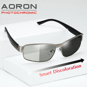 897efb8a40 Image is loading Mens-Polarized-Photochromic-Sunglasses-UV400-Driving- Transition-Lens-