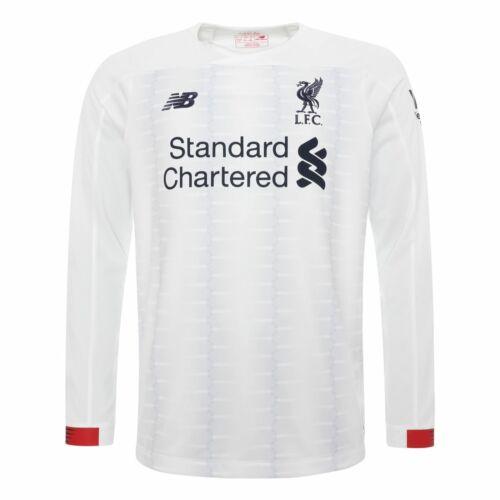 Liverpool FC Blanc à Manches Longues Garçons Football away shirt 19//20 LFC Officiel