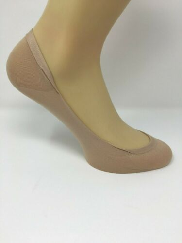 Ladies Invisible Socks//Footsies//shoe liners in Black /& Nude 4 Pairs one Size UK