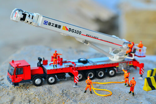 150, Diecast Toy, Construction Model, XCMG DG100 Fire Truck Model, free ship