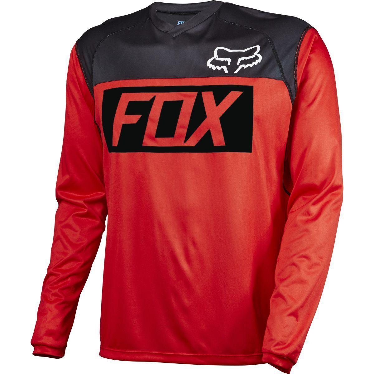 Indicador de Fox Racing De Manga Larga L L L S Jersey Rojo Negro blancooo e4f8d1