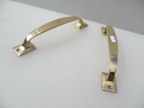 "Brass Door Handles Shop Pulls Gate Antique STYLE Pair 10/"""
