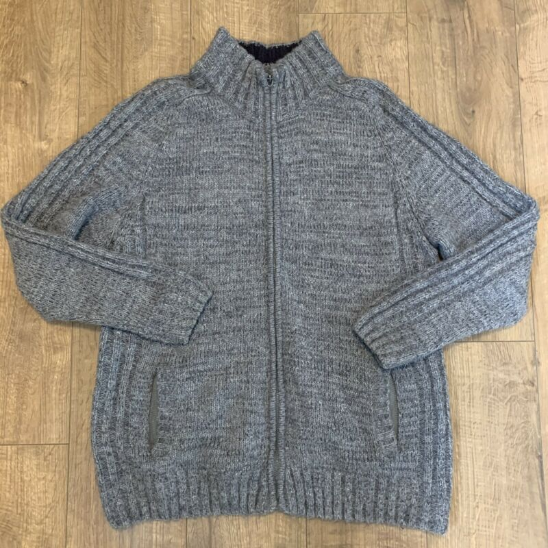 Stone Bay Rhode Island Heritage Collection Grey Knitted Wool Blend Jacket Xl