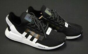 Fv9021 New Men S Adidas Originals Nmd R1 V2 Core Black Ftwr White Black Am440 Ebay