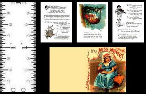 1:12 SCALE MINIATURE BOOK LITTLE MISS MUFFET PRE 1900 DOLLHOUSE SCALE