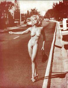 poster photo sépia MADONNA auto stop 1992 - 35 x 28 cm
