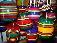 Balero Multi-Color Wood Mexican Traditional Toy Handmade New