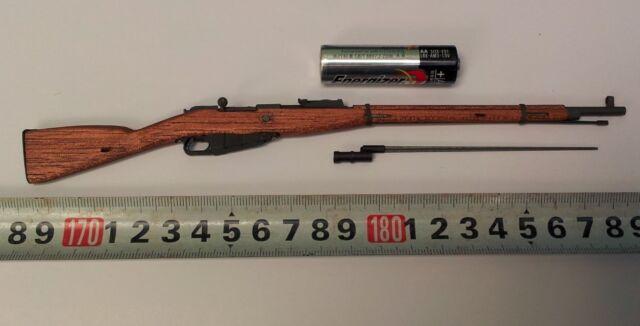 TI Lite WWII Soviet Mosin Nagant Wood Metal Rifle W Bayonet 1 6
