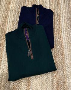 2-Mens-Orvis-Half-Zip-Sweaters-Large
