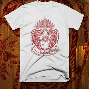 Muay-Thai-T-shirt-MMA-UFC-Jiu-Jitsu-Fight-Club-Thai-Box-Sak-Yant-Tattoo-Tiger