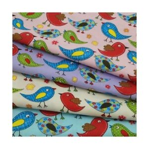 Floral-Birds-Patchwork-100-Cotton-Poplin-Fabric