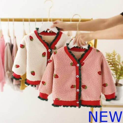 Padded Toddler Girls Winter Outerwear Hoodie Clothes Sweater Kids Coat Baby