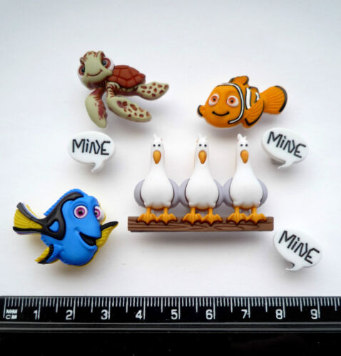 Disney Finding Nemo Craft Boutons 1ST CLASSE POST DORY SQUIRT Mer Ocean Seagull