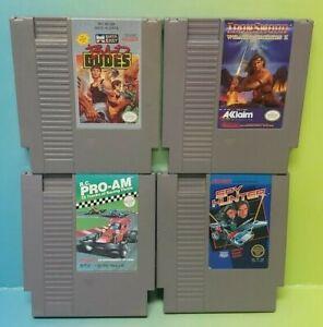 Nintendo-NES-Game-Lot-Tested-Authentic-Iron-Sword-Spy-Hunter-Bad-Dudes-R-C-Pro