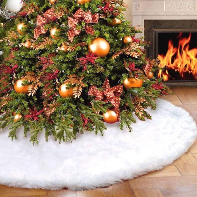 Albero Di Natale Diametro 90.Tappeto Gonna 90 Cm Sotto Alberi Di Natale Pelliccia Bianca Per Coprire Supporto Ebay