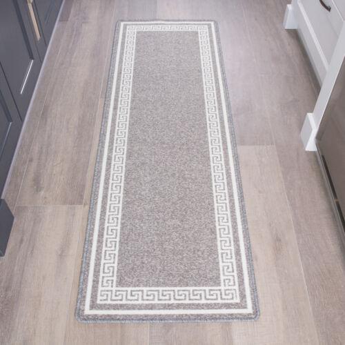 Traditional Grey Silver Non Slip Doormat Anti Fatigue Washable Entrance Mats UK