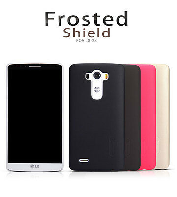 Nillkin Super Frosted Matte Hard Cover Case Shell with LCD Guard For LG G3/D855