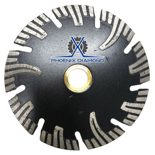 "8/"" Segmented Black Turbo Diamond Blade w// Pro-Teeth Hard Material Granite Marble"