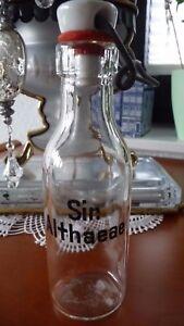 """Apothekenweißglasflasche """"sir Althaeae"""" Bügelverschluß Alt Apothekenauflösung Antiquitäten & Kunst"""